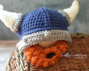 Viking Baby, Beard Hat, Crochet Viking Hat, Viking Helmet, Baby Beard Hat, Baby Viking Hat, Crochet,Baby Beard Hat, Infant Halloween Costume
