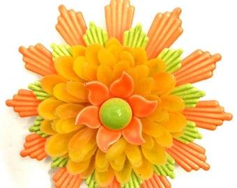 Neon Floral Brooch