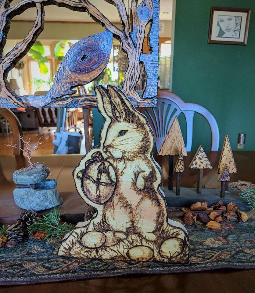 Easter bunny wife gift mother gift easter gift easter table 1 negle Images