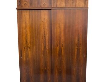 Rosewood Wardrobe Armoire Danish Mid Century Modern