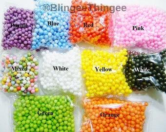 SALE Mini Styrofoam Balls 7 8  9mm Polystyrene Filler Foam Ball Beads You Choose Color DIY Slime Floam Crafts Supplies Approximately 600 pc