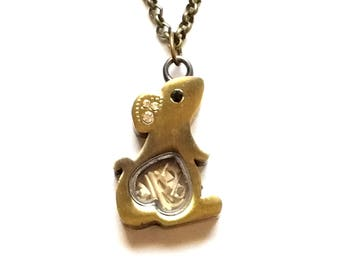 real mouse bones taxidermy mouse bones oddity locket necklace