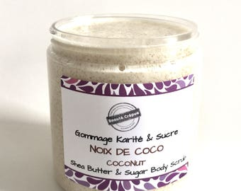 Coconut Unscented Body Scrub with Shea Butter and Sugar - 250g