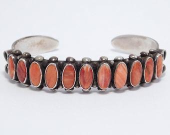 Leo Feeney Southwest Silver Spiny Oyster Cuff Bracelet