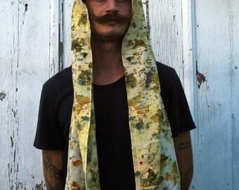 Hemp/Silk Bundle Dyed Hoodscarf