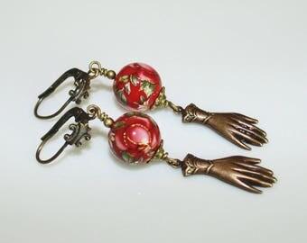 ' A hand wrapped earrings
