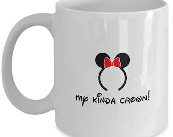 Disney Minnie Ears My Kinda Crown Mickey Coffee Cup Mug Gift
