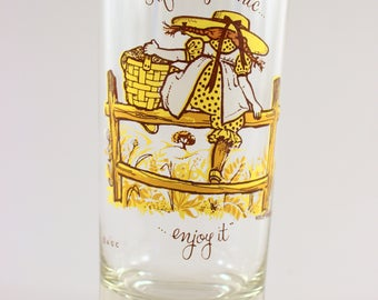 Vintage Holly Hobbie Glass