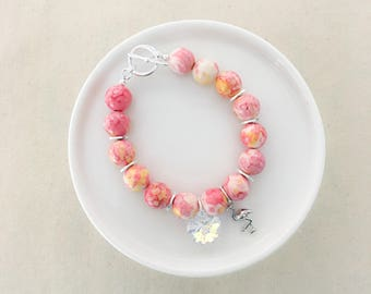 PREORDER - LIMITED EDITION - New Flamingo Beaded Bracelet  - Silver Hardware - Summer Collection