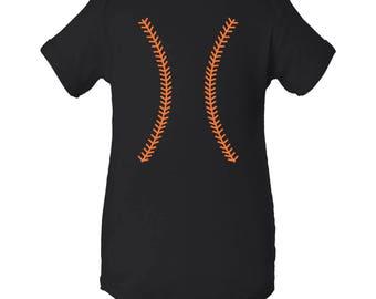 Baseball Team Colors Creeper - Black/Orange