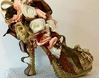 Brown  decorated shoe