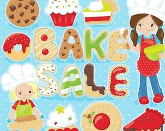 80% OFF SALE bake sale clipart, dessert clipart, christmas commercial use, vector graphics, digital clip art, - CL1026