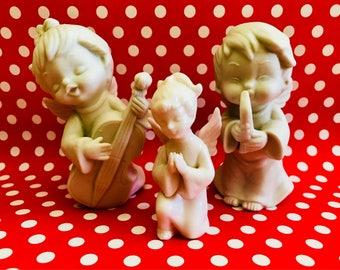 Vintage Porcelain Christmas Angels Collectibles Napcoware