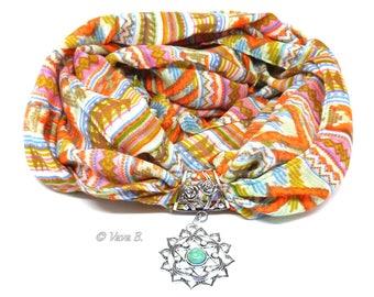 Echarpe foulard bijou - SOLEIL - Réf. F 0004  multicolore