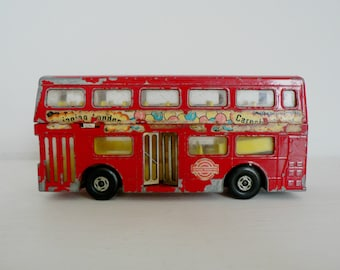 Vintage 'Swinging London, Carnaby Street' Matchbox toy London bus