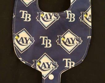 Tampa Bay Rays Inspired Custom Baby Pacifier / Binky Bib