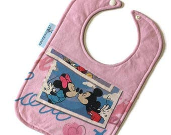 Minnie and Mickey Mouse Baby Bib • Baby Shower Gift • Disney Baby • Mickey Mouse Baby • Minnie Mouse Baby Gift