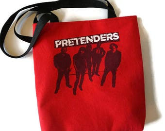Pretenders Bag • Tshirt Tote Bag • Upcycled Band Tee Bag • Pretenders Tshirt Purse • Pretenders Gift