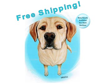 Yellow Lab, Yellow Labrador Retriever, Labrador Retriever, Yellow Labrador Art, Yellow Lab Print, Yellow Lab Picture, Labs, Free Shipping!