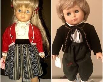 Vintage Gotz Blonde Boy and Girl Set