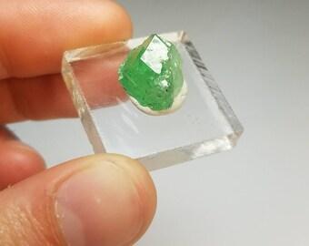 Tsavorite Green Garnet Crystal Specimen Tanzania GG1048