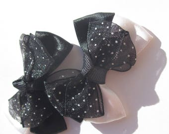 2 big bows 5 cm long approx (A226) veil and satin fabric
