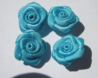 4 nodes 14-15 mm (A82) colored fabric flower