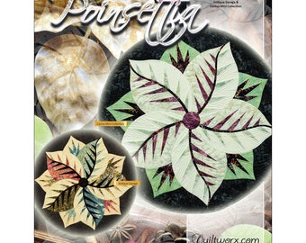 """Pattern """"Poinsettia Table Topper"""" by Judy Niemeyer / Quiltworx Paper Piecing Pattern"""