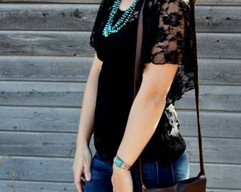 Cowhide and Leather Crossbody Bag SALE