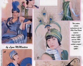 Ladies' Early 20th Century 1910s-1920s Turbans - Lynn McMasters Sewing Pattern # 61
