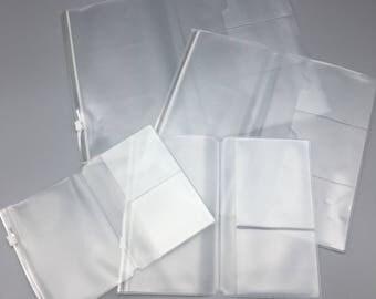 Clear Zipper Pocket Inserts for Traveler's Notebooks/TN
