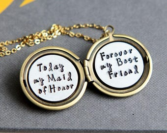 Maid of Honor Gift, Maid of Honor Proposal gift, Bridesmaid Gift, Maid of Honor jewelry, Will You Be My Maid of Honor, Matron of Honor Gift