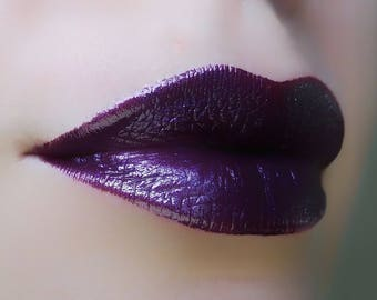 Lilith - Dark Purple Lipstick - Natural Gluten Free Fresh Handmade Cruelty Free Stain