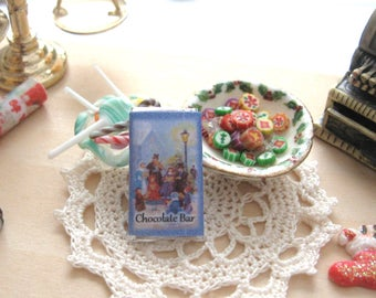 dollhouse chocolate  bar christmas chocolate sweets confectionary 12th scale