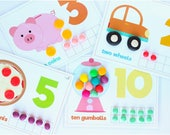 Counting Activities Play Dough Mats