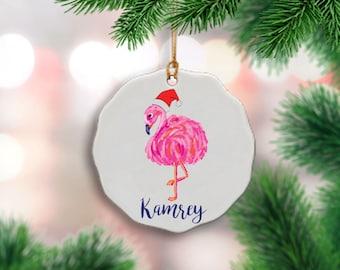 Flamingo ornament | Etsy
