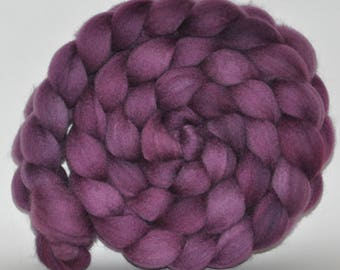 Blue Face Leicester   Hand Painted Roving  5.13 ounces -  Wishful Thinking   combed top