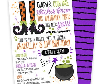 Witch Invitation, Witch Party, Witch Birthday, Witch Birthday Invitation, Witch Invitations, Halloween Witch, Witch Invites | 623