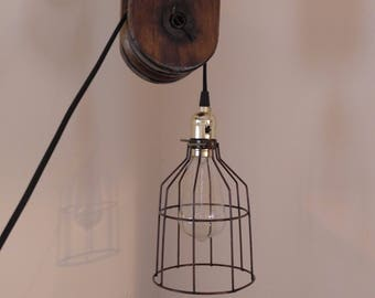 Industrial Vintage Pulley Light  ***FREE SHIPPING***