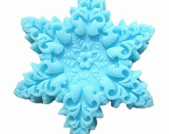 Blue Snowflake Soap -Handmade by SPA Uptown 2 oz