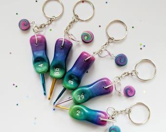 Pearl Butterfly Crochet Hook. Mini hook. Knitters notions. Drop stitch. Children's crochet hook.