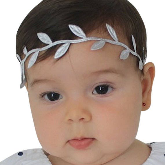 Newborn Headband, Silver headband, Baby shower gift, Baby headband, Infant Headband, Silver Headband, Grecian Headband, Greek Headband