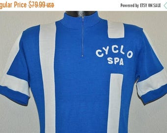 ON SALE 60s Cyclo Spa Cycling Jersey t-shirt Small