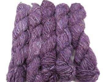 SALE Vegan Banana Silk Yarn, Violet