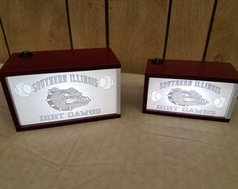 Southern Illinois Dirt Dawgs lighted lithophane box