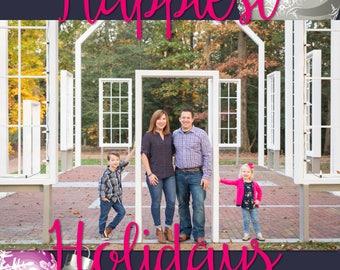 Happiest Holidays Custom Invitation File