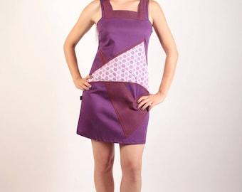 Texsanne purple cotton dress