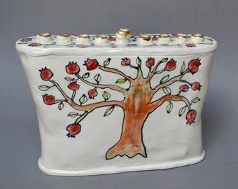 Pomegranate Tree Menorah