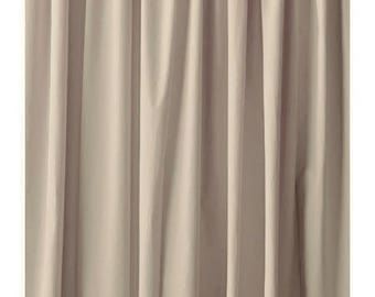 144 H Beige Velvet Curtain Extra Long Panel Drape Modern Store Window Wedding Boutique Wall