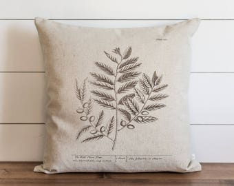 Botanical Wild Olive Tree 20 x 20 Pillow Cover // Everyday // Herbs // Gift // Accent Pillow